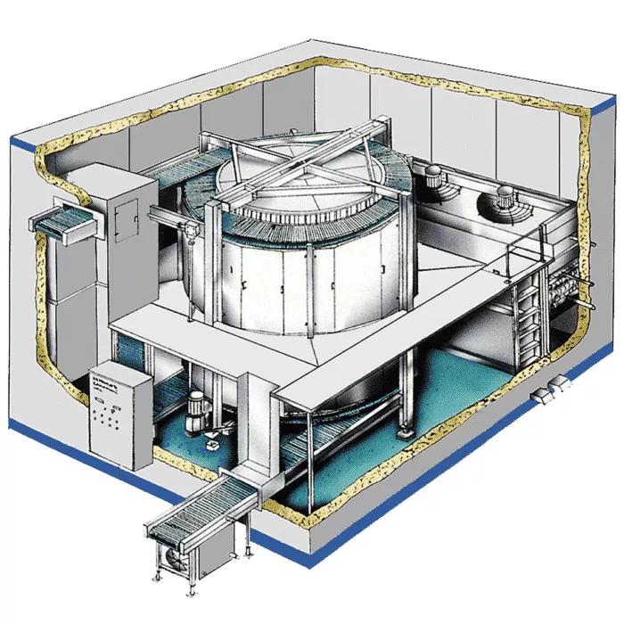 site-built-spiral-freezer detail schematic