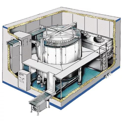 IQF spiral freezer manufacturer site built factory built and re-assembled